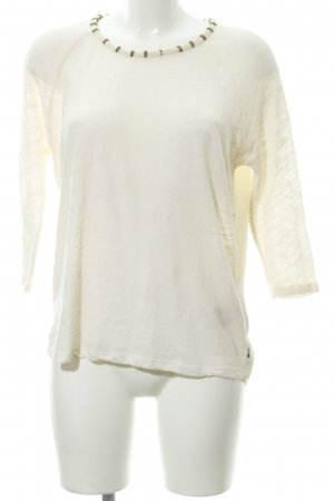 Maison Scotch Rundhalspullover creme Casual-Look