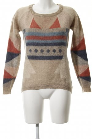 Maison Scotch Rundhalspullover mehrfarbig Casual-Look