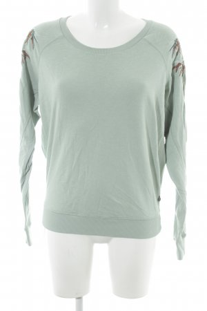 Maison Scotch Jersey de cuello redondo menta look casual