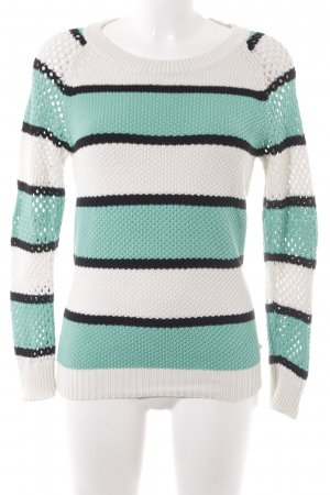 Maison Scotch Jersey de cuello redondo estampado a rayas look casual