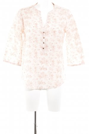 Maison Scotch Schlupf-Bluse hellrosa-hellrot florales Muster Casual-Look