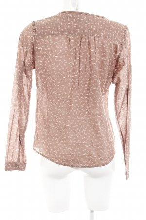Maison Scotch Schlupf-Bluse rostrot-hellbeige florales Muster Casual-Look