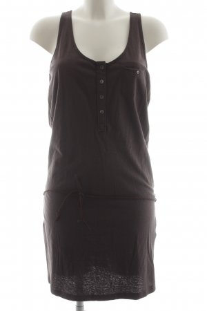 Maison Scotch schulterfreies Kleid graubraun Casual-Look