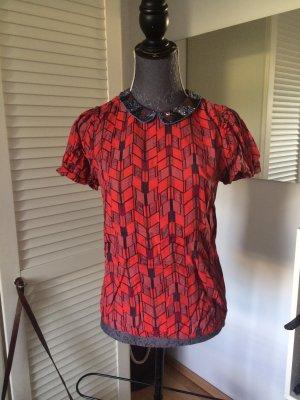 Maison Scotch Shirt mit Pailletten Kragen