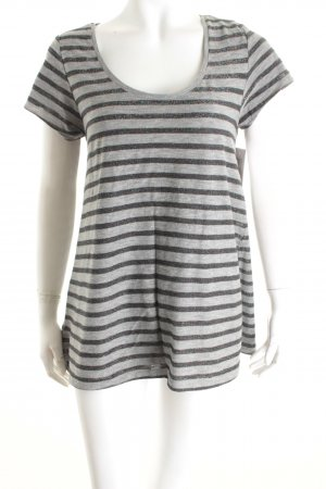 Maison Scotch Shirt schwarz-grau Streifenmuster Casual-Look