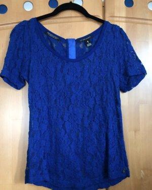 Maison Scotch Shirt Spitze blau XS
