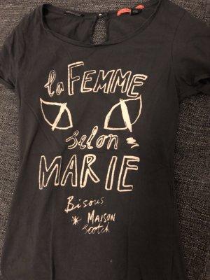 Maison Scotch Shirt und dunkelgrau mit Druck