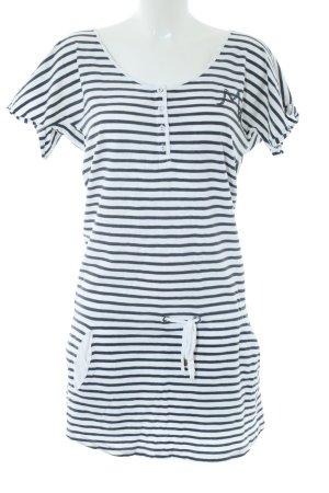 Maison Scotch Shirtkleid weiß-schwarz Streifenmuster Casual-Look