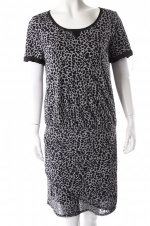 Maison Scotch Shirtkleid Animalprint Grau