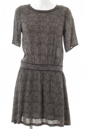 Maison Scotch Shirtkleid schwarz-wollweiß Punktemuster Casual-Look