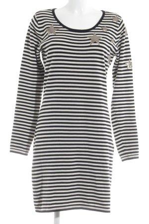 Maison Scotch Shirtkleid weiß-schwarz Ringelmuster Casual-Look