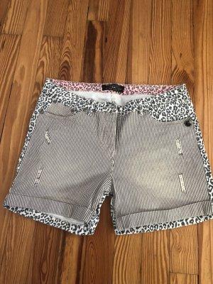 Maison Scotch Pantalone corto bianco-grigio ardesia