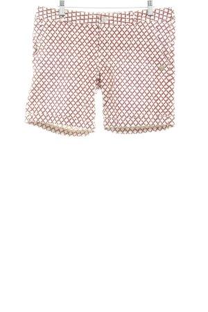 Maison Scotch Shorts creme-bordeauxrot abstraktes Muster Casual-Look