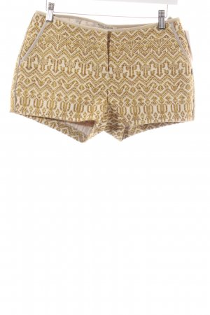 Maison Scotch Shorts limettengelb-beige Webmuster Ethno-Look