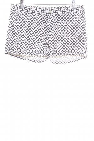 Maison Scotch Shorts black-cream abstract pattern casual look