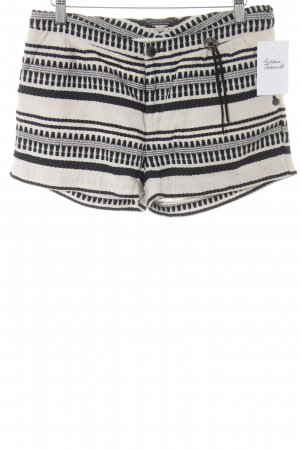 Maison Scotch Shorts schwarz-hellbeige Boho-Look
