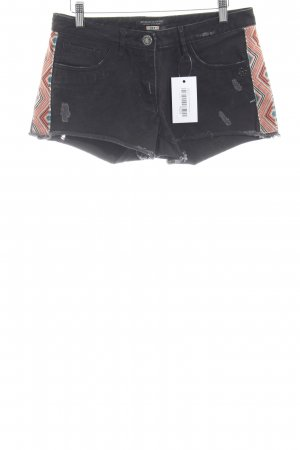 Maison Scotch Shorts taupe Aztekenmuster Used-Optik