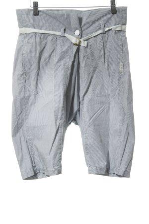 Maison Scotch Shorts blanco-azul acero raya diplomática look casual
