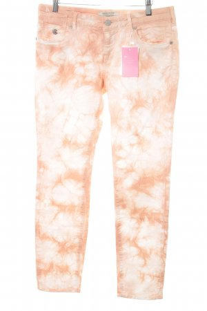 Maison Scotch Skinny Jeans apricot-wollweiß Batikmuster Casual-Look