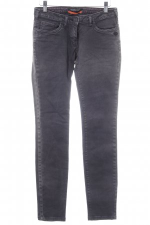 Maison Scotch Skinny Jeans dunkelgrau Washed-Optik