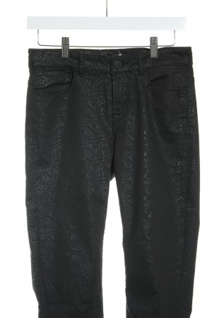 Maison Scotch Skinny Jeans schwarz-anthrazit florales Muster Casual-Look