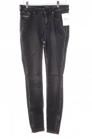 Maison Scotch Skinny Jeans schwarz Used-Optik
