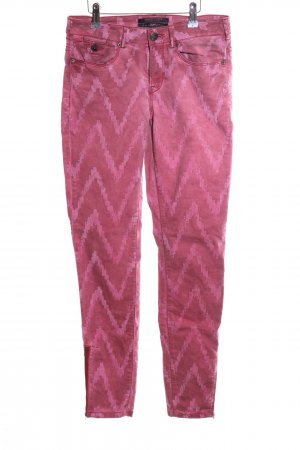 Maison Scotch Slim Jeans pink Allover-Druck Casual-Look
