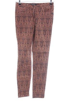 Maison Scotch Slim Jeans nude-braun Allover-Druck Casual-Look