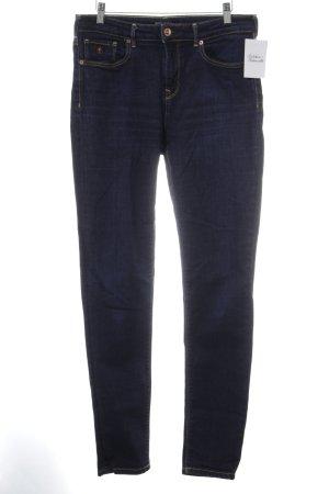 Maison Scotch Slim Jeans dunkelblau-goldfarben Jeans-Optik