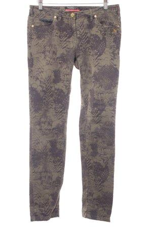 Maison Scotch Slim Jeans grüngrau-dunkelgrau abstraktes Muster Reptil-Optik