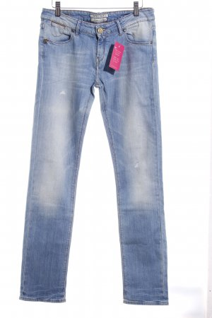 Maison Scotch Slim Jeans kornblumenblau-hellbeige Casual-Look