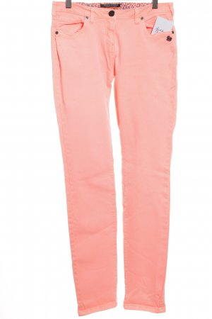 Maison Scotch Slim Jeans neonpink-schwarz Punk-Look