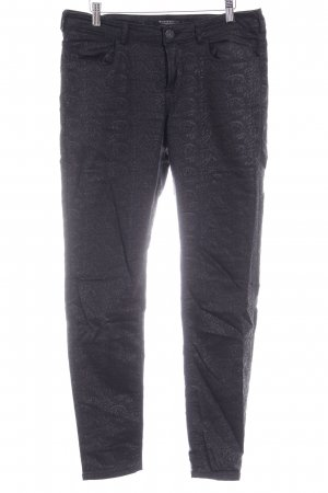 Maison Scotch Slim Jeans schwarz Allover-Druck Casual-Look