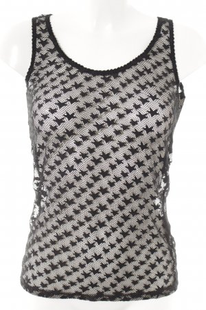 Maison Scotch Lace Top black loosely knitted pattern casual look