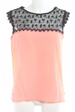 Maison Scotch Spitzentop schwarz-neonpink Party-Look