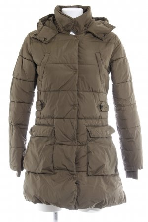 Maison Scotch Quilted Coat green grey casual look