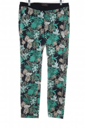 Maison Scotch Stoffhose florales Muster Business-Look