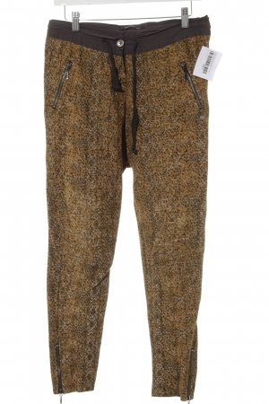 Maison Scotch Stoffhose goldorange-anthrazit abstraktes Muster Casual-Look