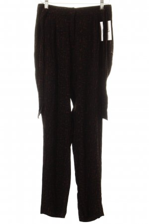 Maison Scotch Stoffhose schwarz-braun abstraktes Muster Casual-Look