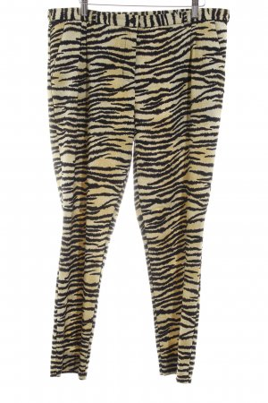 Maison Scotch Stoffhose schwarz-dunkelgelb Animalmuster Animal-Look