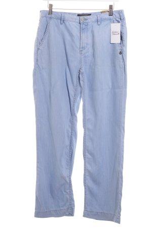 Maison Scotch Straight-Leg Jeans hellblau klassischer Stil