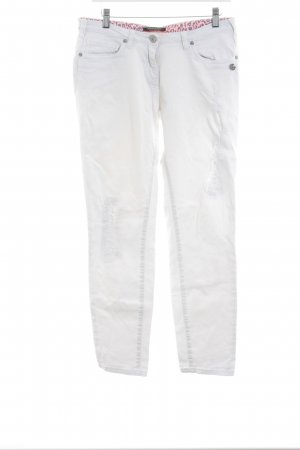 Maison Scotch Straight-Leg Jeans wollweiß Destroy-Optik