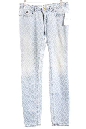 Maison Scotch Stretch Jeans hellblau-blassblau abstraktes Muster