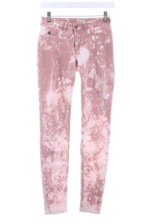 Maison Scotch Stretch Jeans roségoldfarben-hellbeige Batikmuster Casual-Look