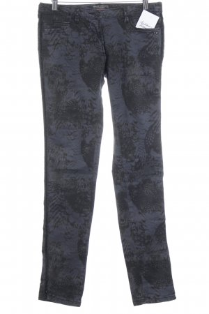 Maison Scotch Stretch Trousers grey violet-taupe abstract pattern casual look