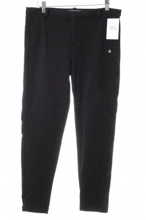 Maison Scotch Stretchhose schwarz Sternenmuster Casual-Look