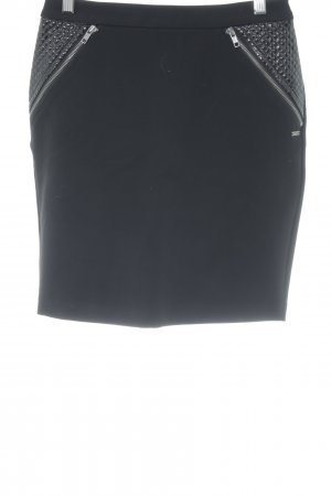 Maison Scotch Stretchrock schwarz Casual-Look