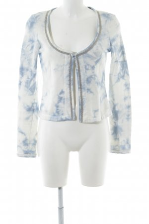 Maison Scotch Strick Cardigan weiß-blau Camouflagemuster Casual-Look