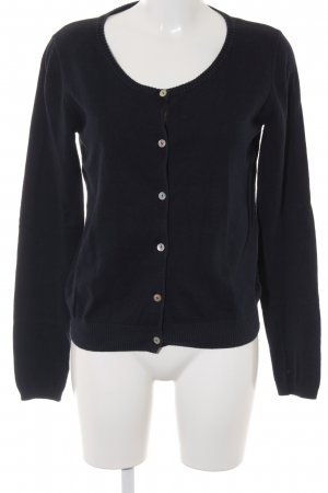 Maison Scotch Strick Cardigan dunkelblau Motivdruck Casual-Look