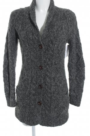 Maison Scotch Strickjacke grau Lochstrickmuster Casual-Look